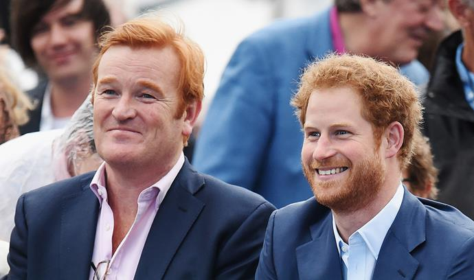 Mark Dyer has remained a close mentor to Prince Harry since leaving his royal post, pictured here at the Sentebale concert in 2016. *(Image: Getty)*