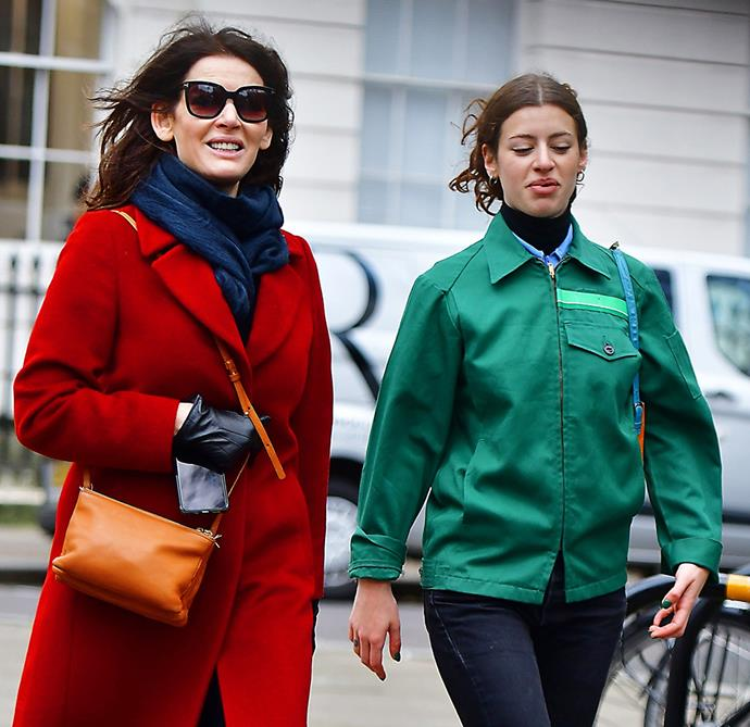 Nigella and her daughter Cosima step out for a birthday lunch.