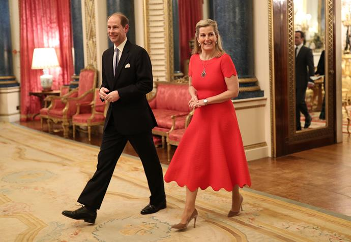 Prince Edward and Countess Sophie, who also happened to be celebrating her 55th birthday. *(Image: Getty)*