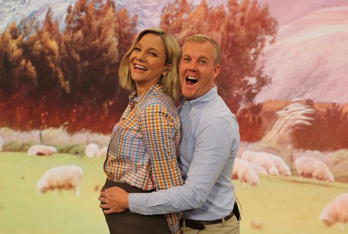 Hayley's co-hosts are over the moon for her. *(Image: Twitter/@Breakfaston1)*