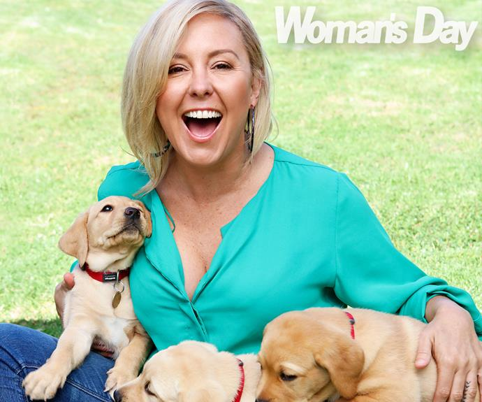 jodie rimmer with puppies