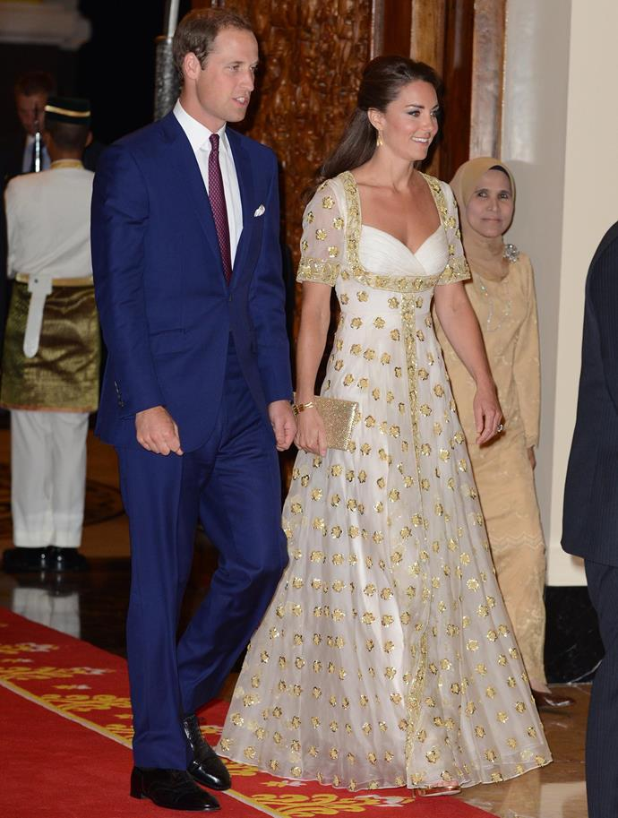 Duchess Catherine first rocked the Alexander McQueen number while on a royal visit to Malaysia in 2012. *(Image: Getty)*