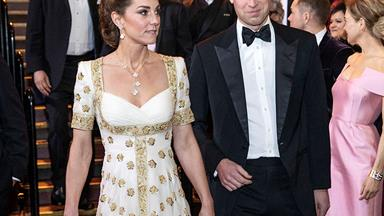 Duchess Catherine dazzles in a recycled Alexander McQueen gown for the 2020 BAFTAs