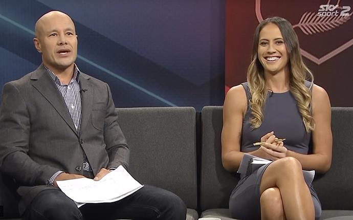 Hosting *The Kiwi League Show* alongside Monty Betham on Sky Sport.
