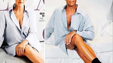 Jeremy Wells recreates Hilary Barry's NEXT magazine cover and the results are hilarious