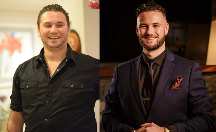 Kurt before and after losing a whopping 59kg through healthy eating and regular exercise.