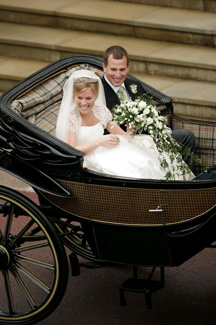 Peter and Autumn tied the knot at St George's Chapel at Windsor Castle in 2008. *(Image: Getty)*