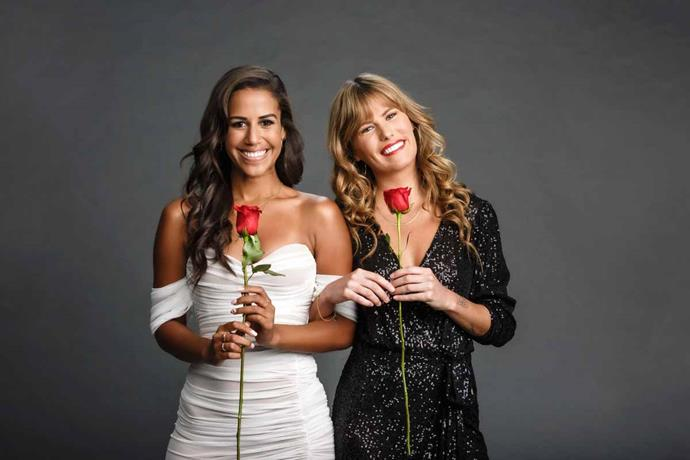 Lily with her fellow Bachelorette Lesina Nakhid-Schuster.