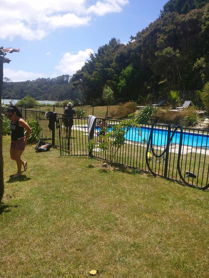 The fenced-off pool at Kawau Island had been a drawcard of the holiday.