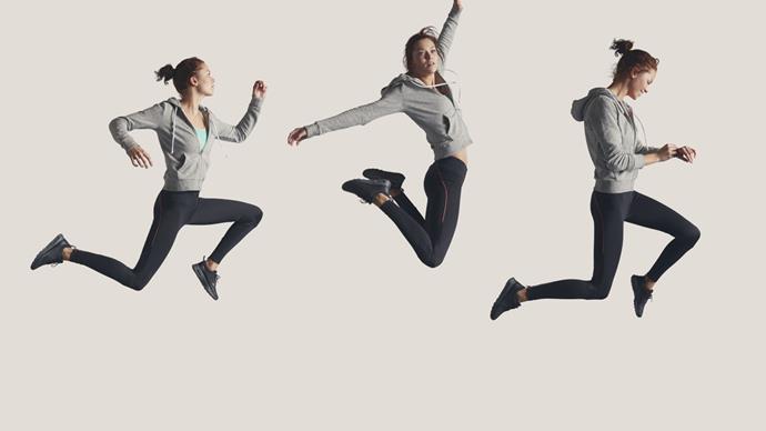 Woman jumping in air cardio