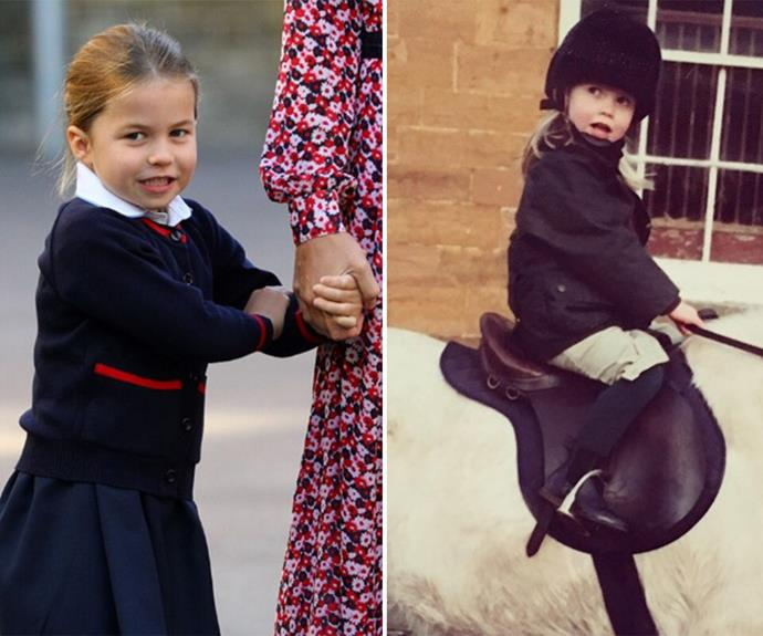 Kitty shared a throwback pic of herself back in 1992, and had her followers remarking at her cousin Princess Charlotte's resemblance to her. *(Image: Getty, Instagram/@kitty.spencer)*
