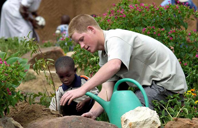 Prince Harry during his gap year in Lesotho in 2004. *(Image: Getty)*