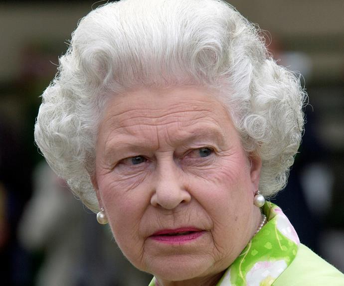 queen elizabeth serious
