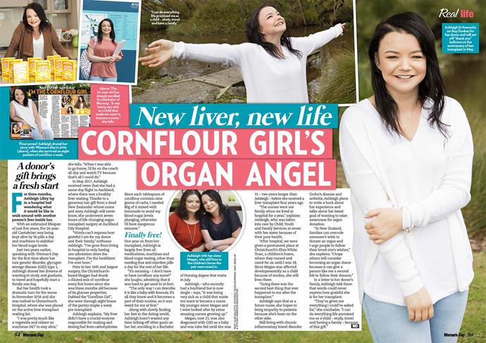 In 2018 Ashleigh, a former nursing student, had a liver transplant which has improved her life expectancy.