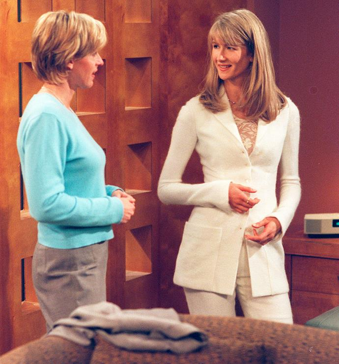 "With Ellen in 1997, who says Laura can ""play a straight role, and she's good at comedy."""