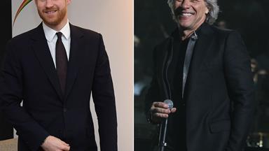 Prince Harry teases an upcoming collaboration with Jon Bon Jovi via an amusing text conversation
