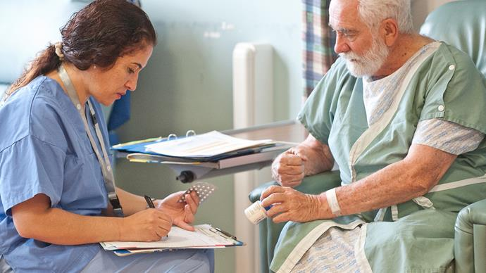 Doctor and patient in consultation