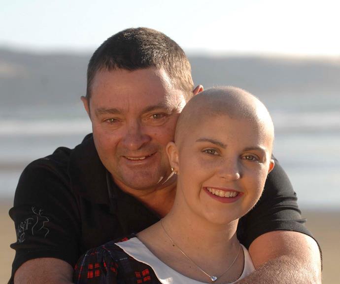 Georgia with her dad, Glenn
