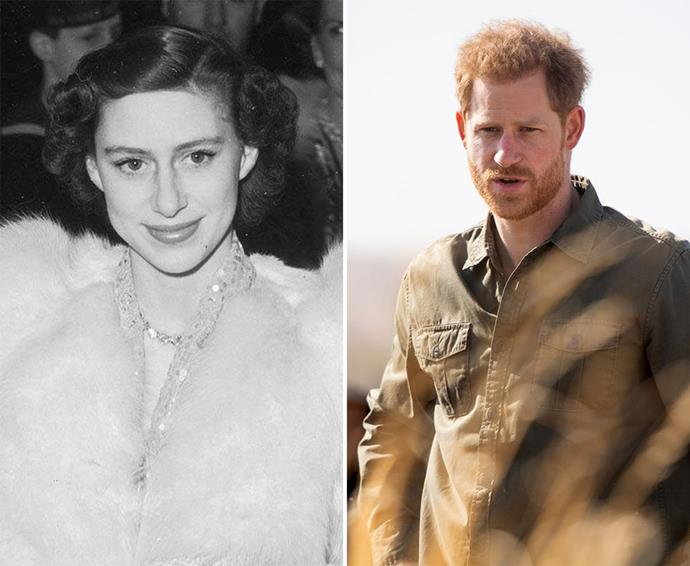 The Queen's understanding of her late sister's struggles likely played a part in allowing Prince Harry to step back from being a working royal. *(Images: Getty)*