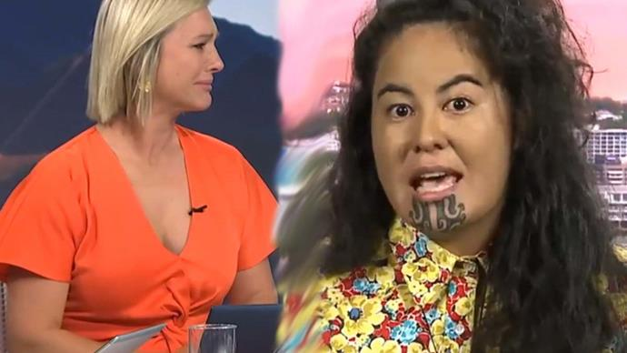 Hayley Holt breaks down on live TV over confronting interview with lawyer Julia Whaipooti about racism