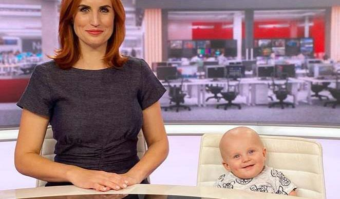 Samantha Hayes' baby Marlow joins her on the newsdesk and all we can say is awww!