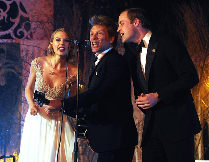 Bon Jovi joined Prince William and Taylor Swift in 2013 for a charity gala. *(Image: Getty)*