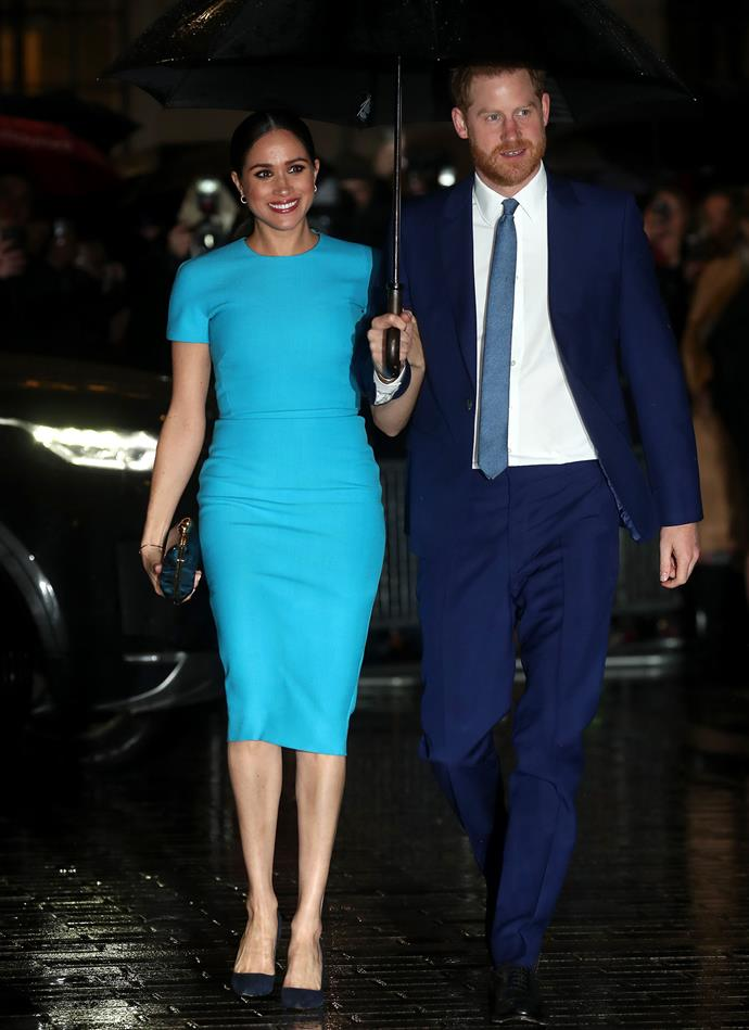 Meghan and Harry made their first joint public appearance on Thursday since their bombshell announcement. *(Image: Getty)*
