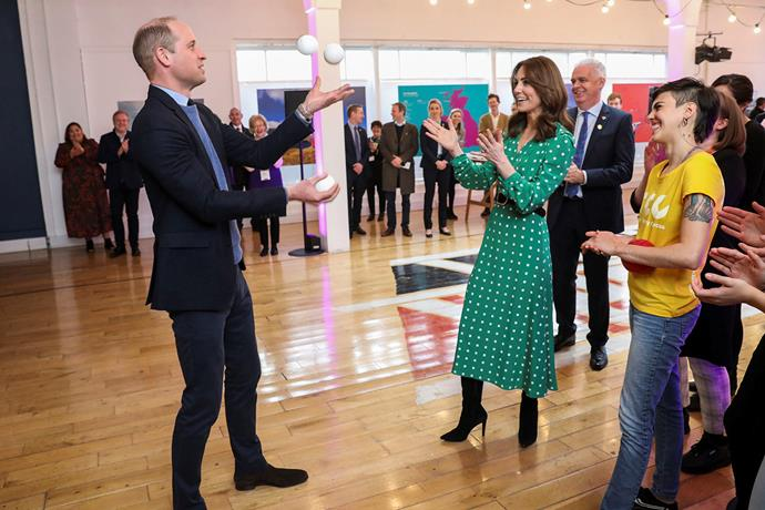 Prince William impressed the crowd with his hidden talent. *(Image: Getty)*