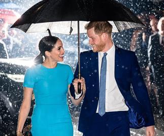 meghan markle prince harry rain