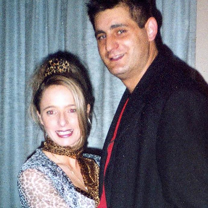 Lindholm with George Teazis. The pair were engaged to be married before Lindholm ordered his death.