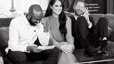 Duchess Meghan and Prince Harry share outtakes from a secret meeting at Buckingham Palace