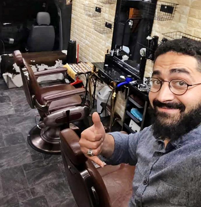 Wasseim is an award-winning barber who hopes to one day run his dream business again.