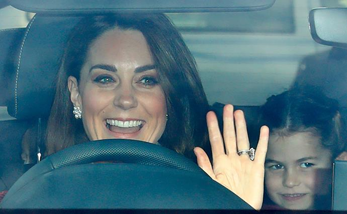 kate middleton car princess charlotte