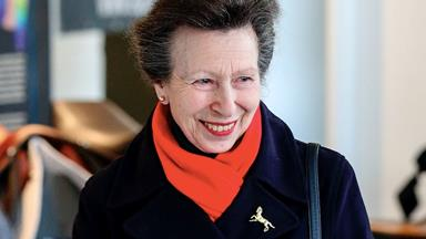 Known as the hardest working royal, Princess Anne continues her duties with gloves amid the Covid-19 pandemic