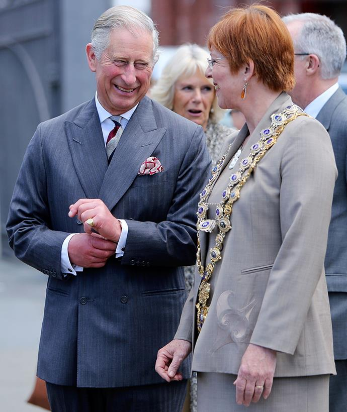 Celia showed Prince Charles and Duchess Camilla around Wellington in 2012