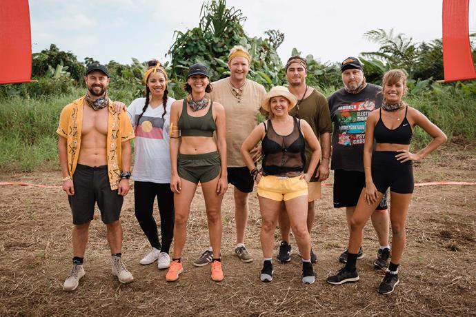 Jodie and Lily with their fellow contestants on *Celebrity Treasure Island* NZ last year.