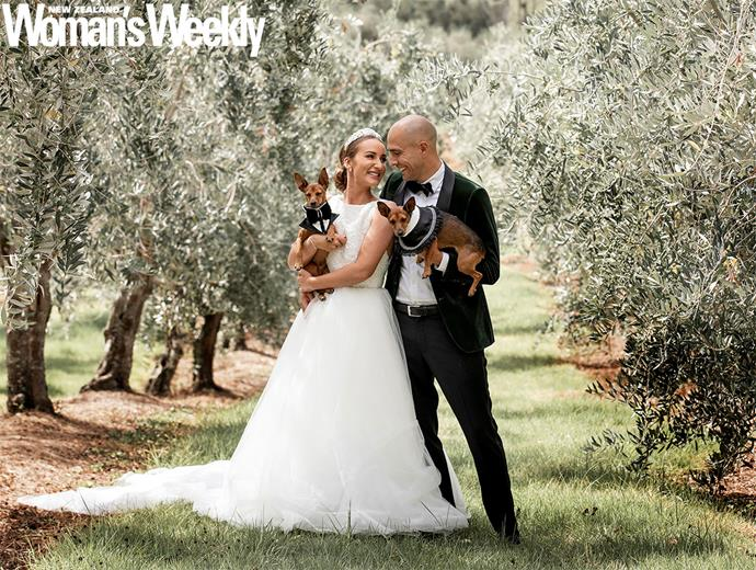 The couple took wedding photos in an Olive grove as a way to remember Bella's late grandmother.
