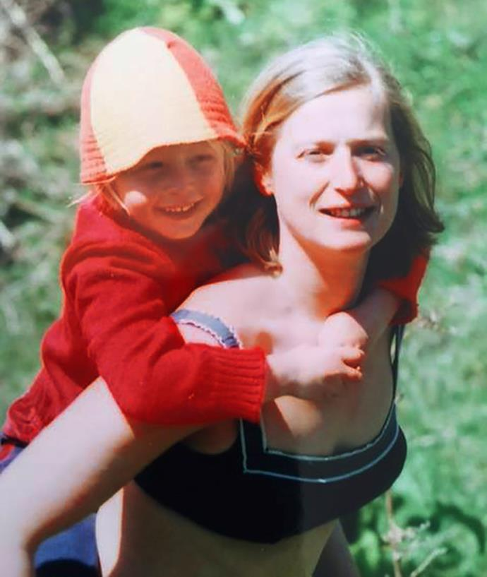 Penny Tucker as a child with her mother Gem