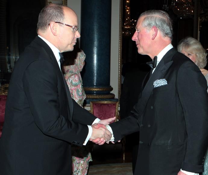 Prince Albert and Prince Charles in 2012. *(Image: Getty)*