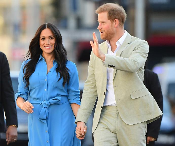 Harry and Meghan have hired Catherine St-Laurent to lead their new non-profit organisation. *(Image: Getty)*