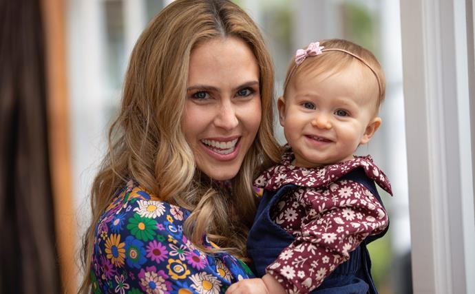Anna Hutchison and daughter Joanie Pearl