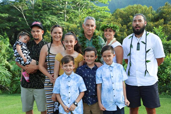Frank and Jess married in Hawaii. with many of his kids and grandkids cheering him on.