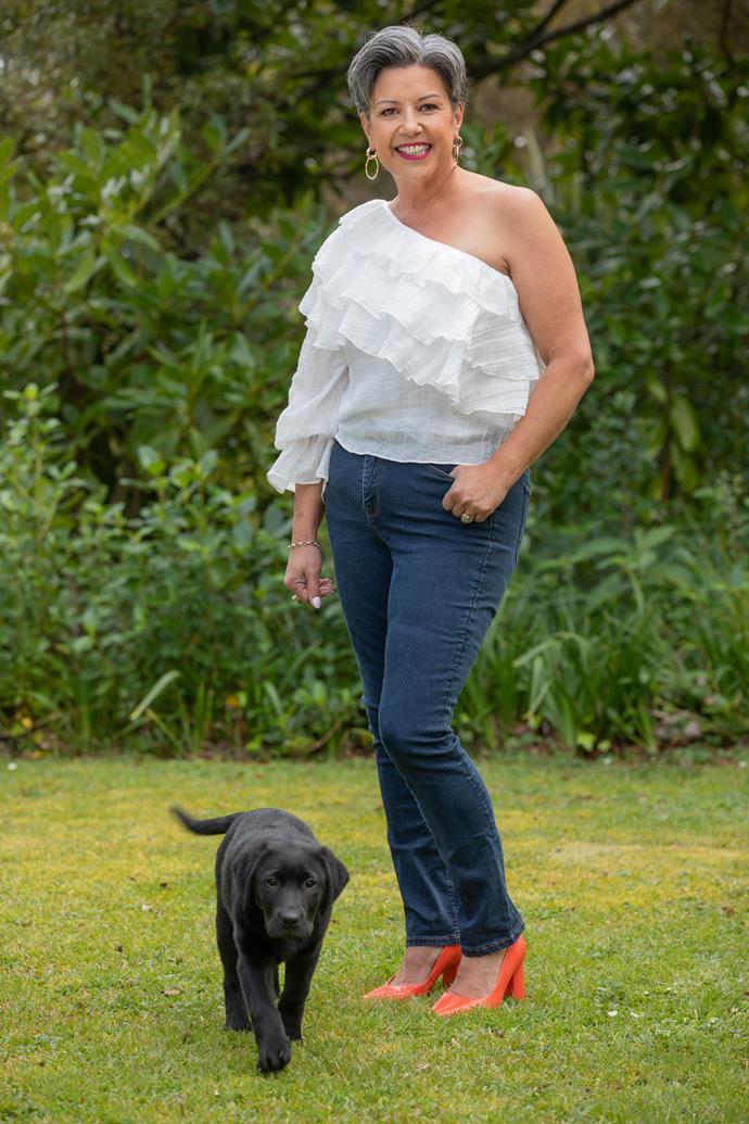 Paula Bennett and puppy Charlie