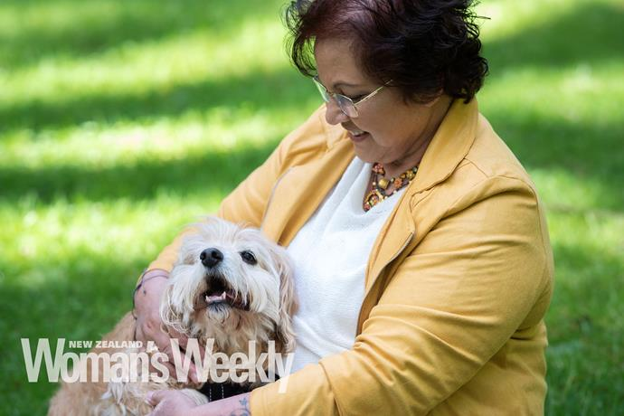Paw-fect companion: Adorable pooch Scruffy has been a lifeline to Stephanie through the hard times