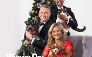 Jase, Toni & Sam get festive with their four-legged friends
