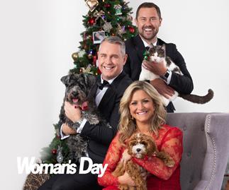 Jase, Toni & Sam get festive with their four-legged friends