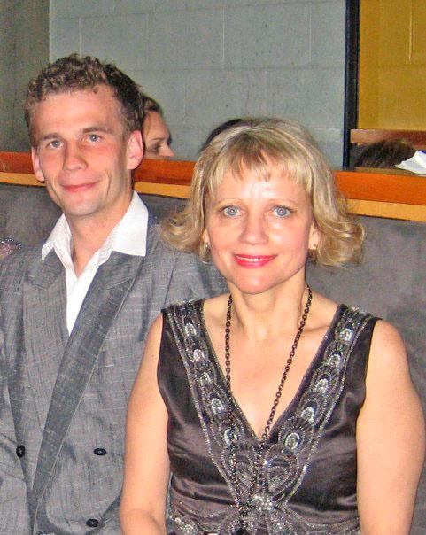 David with his late mum Victoria