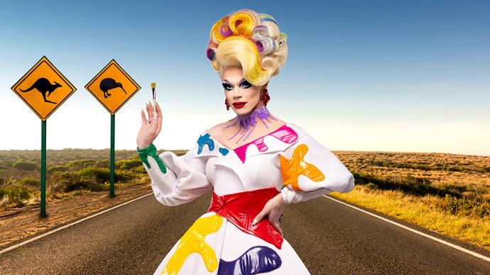 """***[Art Simone, Australia](https://www.instagram.com/rtist_ target=""""_blank"""")***  Art Simone is the current reigning """"Queen of Australia"""" and as well as featuring across Australian film and tv, has also been awarded Drag Performer of the Year for the last two years running."""