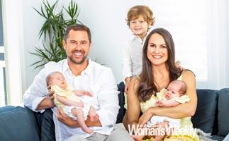 Smitten but sleep-deprived!  Sam Wallace and fiancée Sarah are on double duty