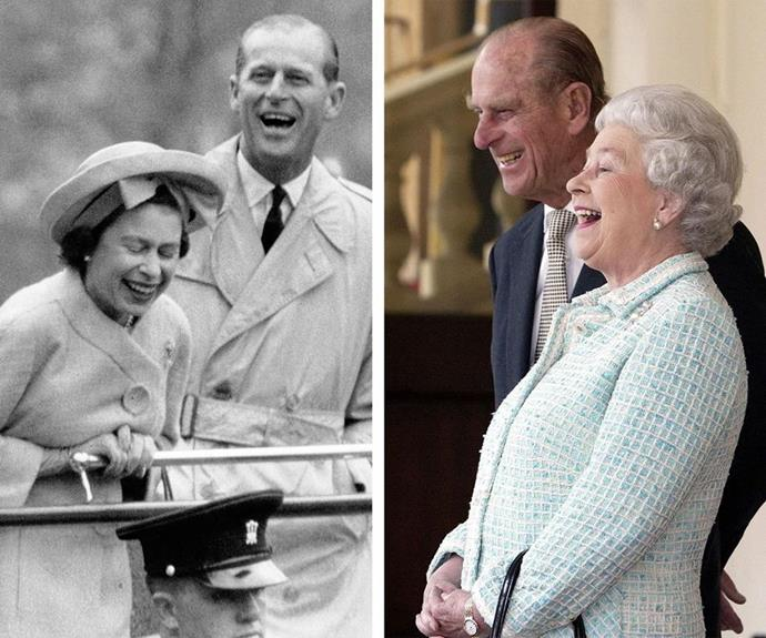 Queen Elizabeth and Prince Philip laughed throughout their 73-year marriage. (Getty)
